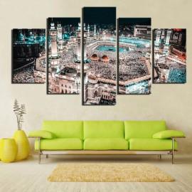 Peinture toile panoramique Masjid Al Haram à la Mecque